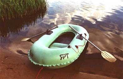 Надувная резиновая лодка Нырок 1-01
