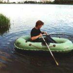 Надувная резиновая лодка Нырок 1-04 с надувным дном