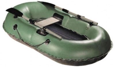 Надувная резиновая лодка Нырок 1-05 с надувным дном и жесткой банкой